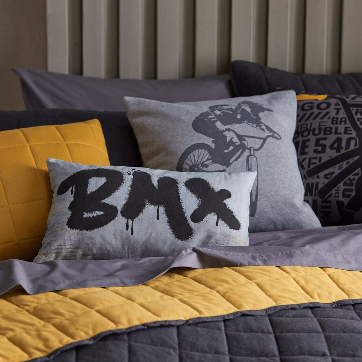 """BMX Graffiti Decorative Lumbar Pillow 13"""" x 20"""""""