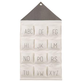 Rangement suspendu alphabet
