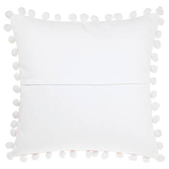 "Noomalie Decorative Pillow with Pom-Poms 18"" X 18"""