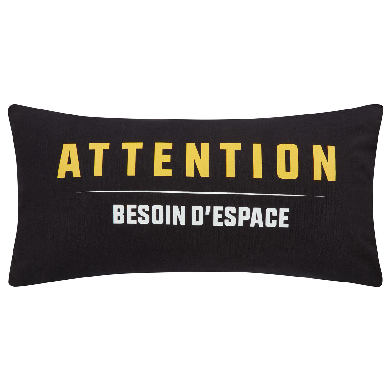 "Warning Decorative Lumbar Pillow 11"" X 22"""