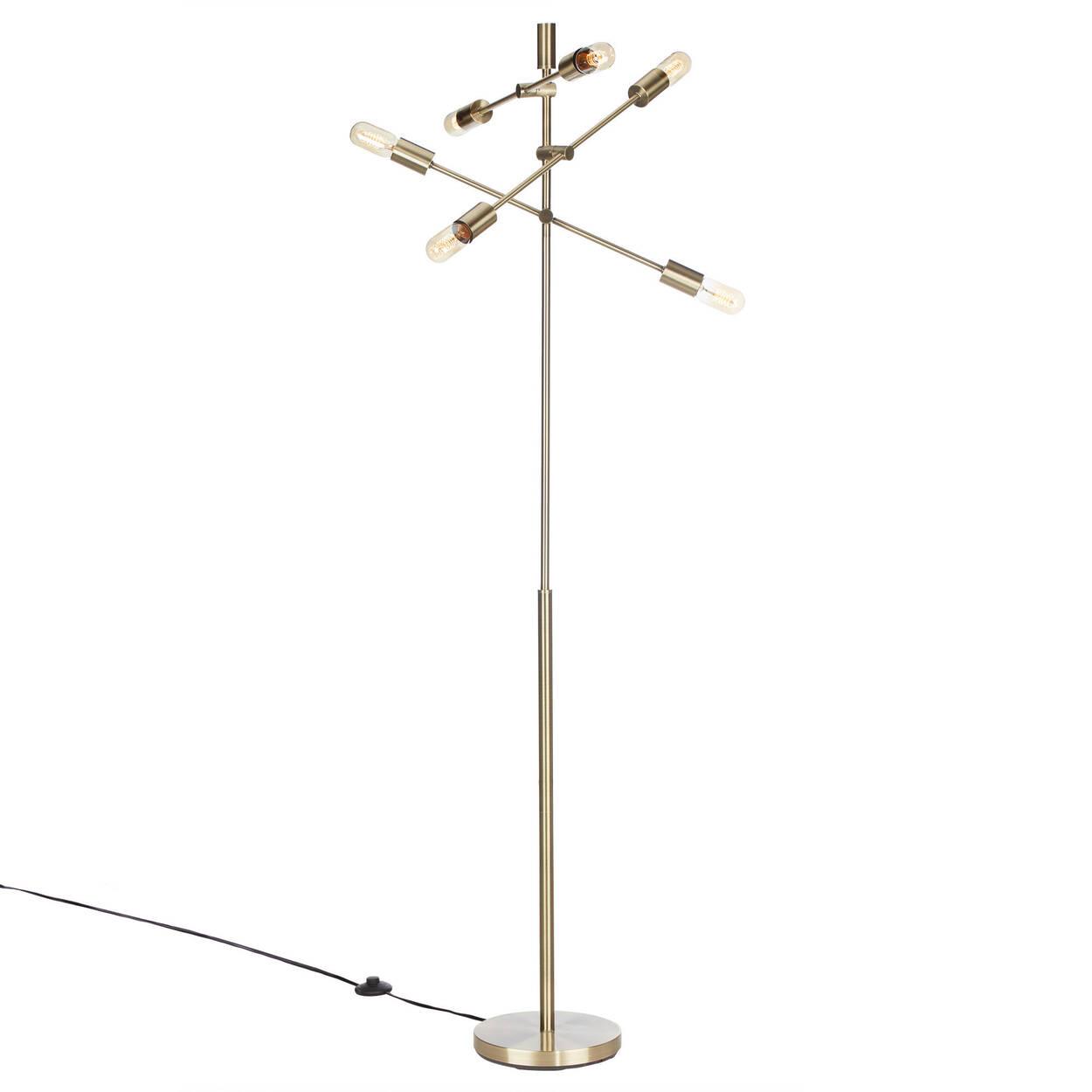 Gold Metal Sputnik Floor Lamp