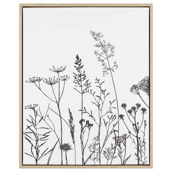Flowers Framed Printed Canvas