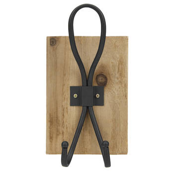 Metal Wall Hook on Wooden Plaque