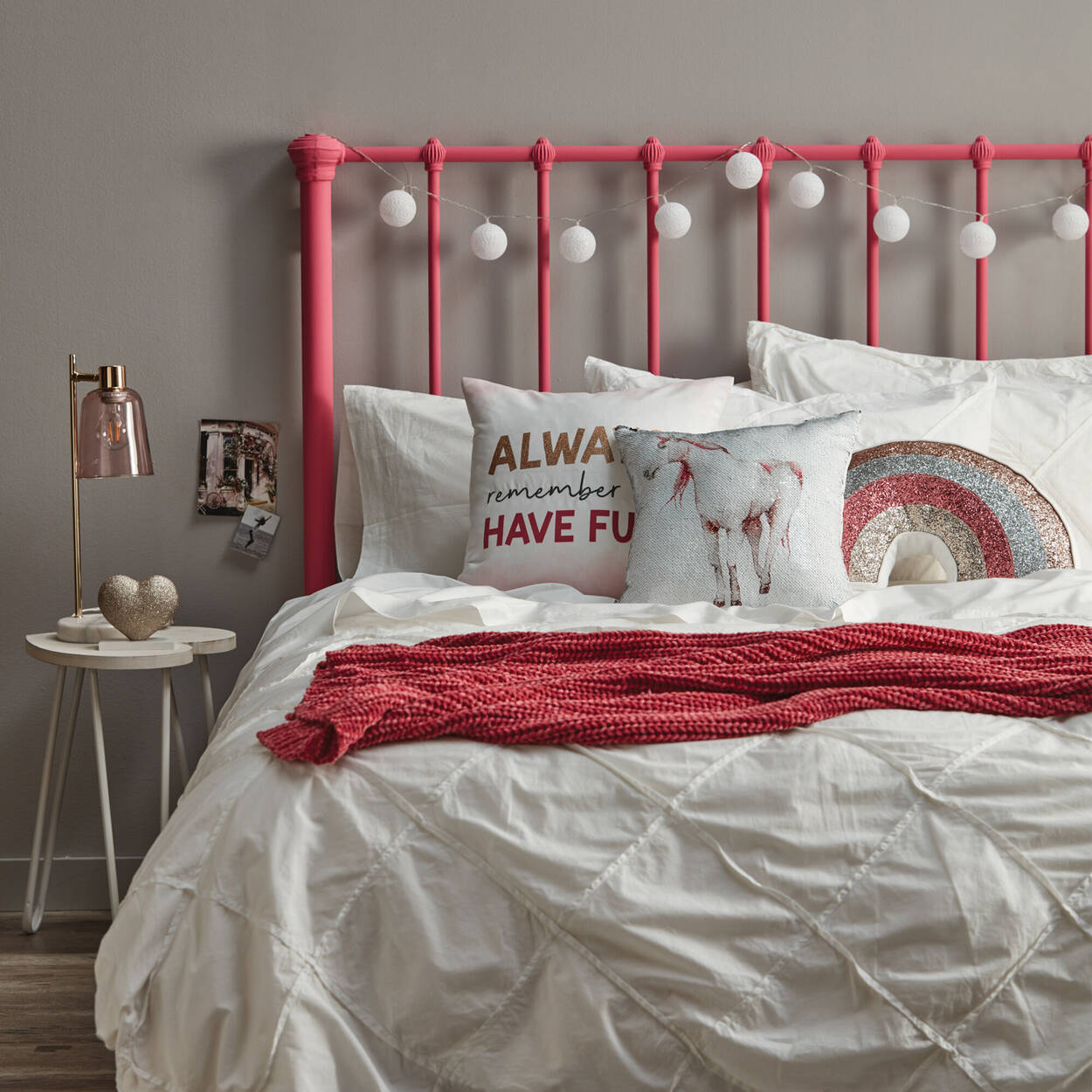 "Decorative Sequined Rainbow Pillow 20"" X 10"""
