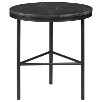 Marble and Metal Side Table