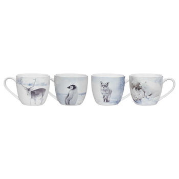 Set of 4 Arctic Animal Mugs