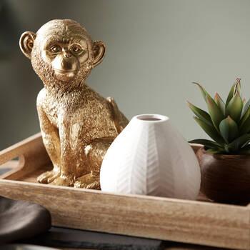 Vase en céramique texturée chevron