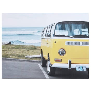 Yellow Westfalia Printed Canvas