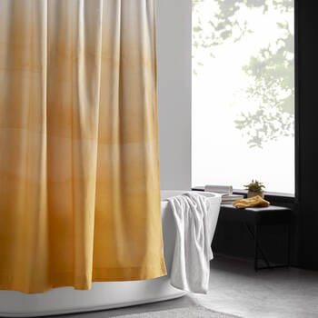 Yellow Gradient Shower Curtain