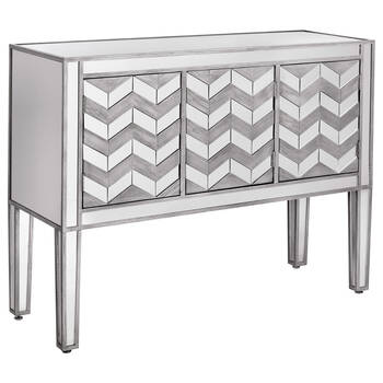 Chevron Wood & Mirror Buffet