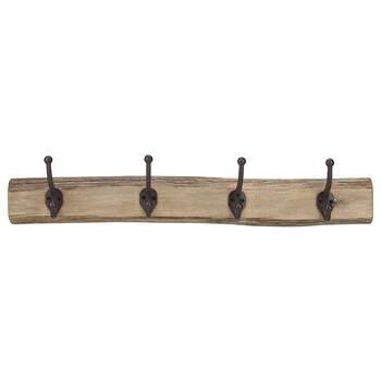 Set of 4 Hooks on Wood Plank