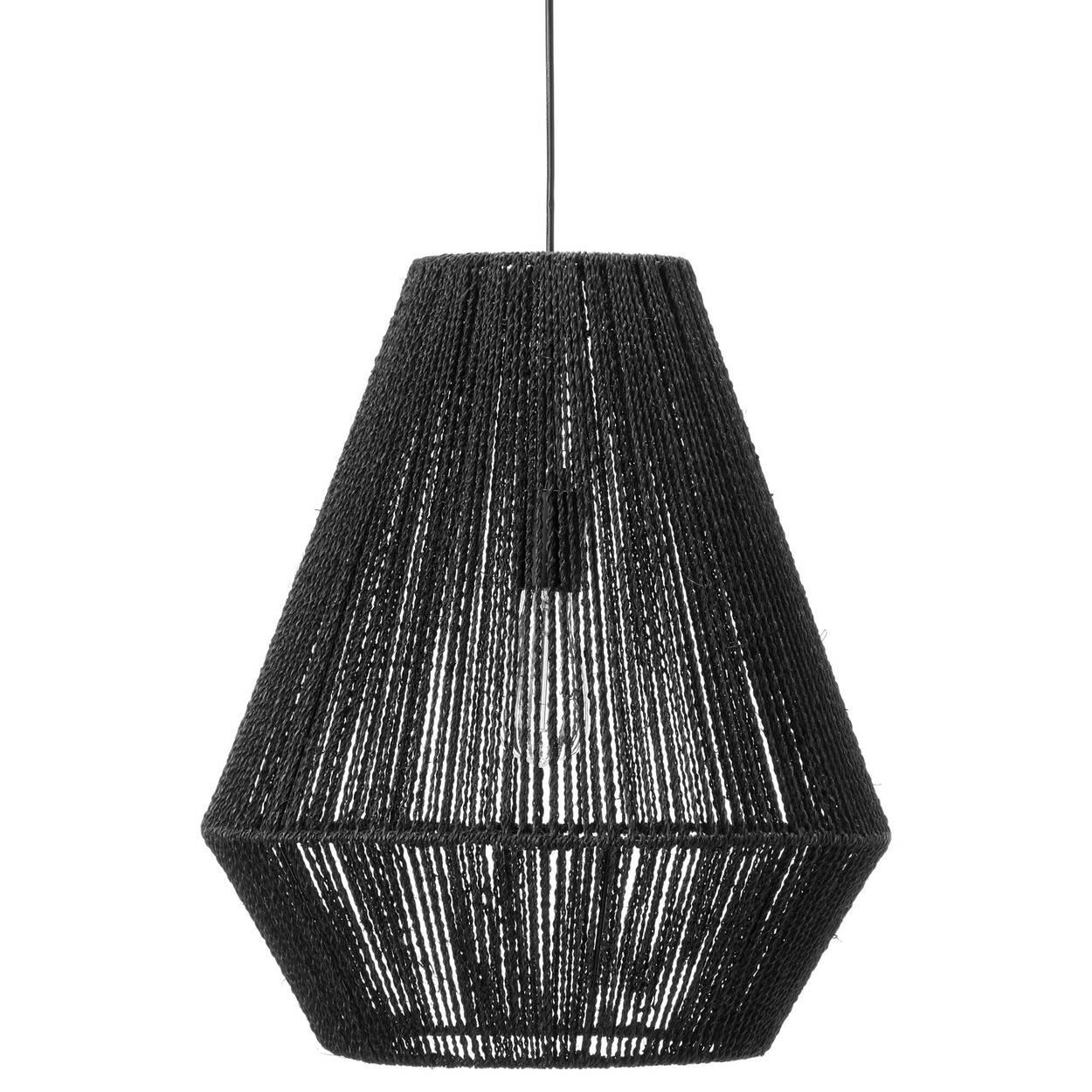 Black Hemp Rope Ceiling Lamp