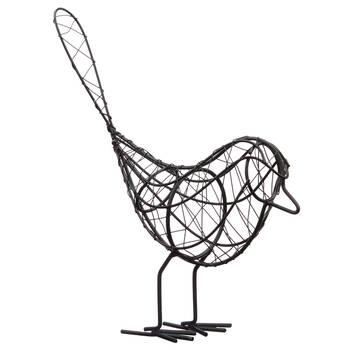 Oiseau décoratif en tige de métal