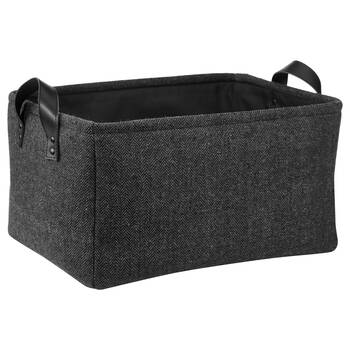 Herringbone Storage Basket with Handles