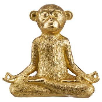 Statue décorative d'un singe en méditation