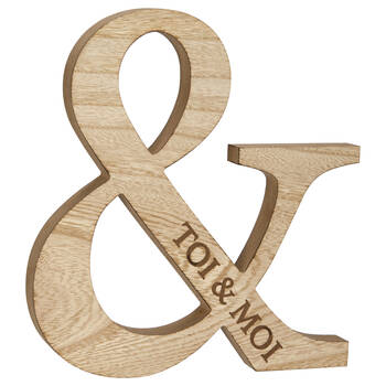 Decorative Toi & Moi Ampersand