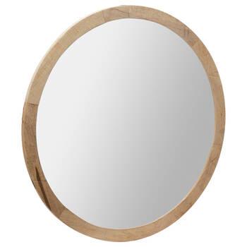 Round Barnwood Mirror