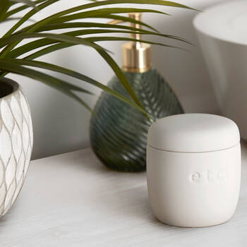 White Ceramic Makeup Remover Pads Jar