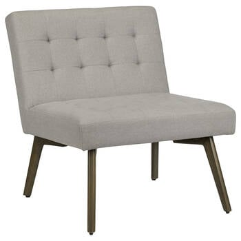 Tufted Fabric and Rubberwood Barcelona Lounge Chair
