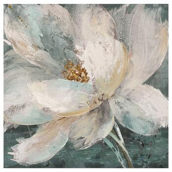 Tableau imprimé floral avec embellissements au gel