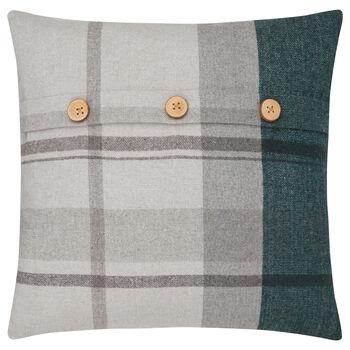"""Ulrick Plaid Decorative Pillow 19"""" X 19"""""""