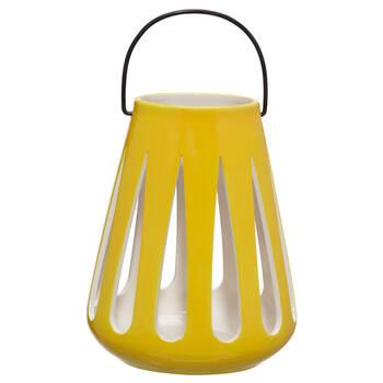 Porte-chandelle lanterne en céramique