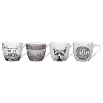 Set of 4 Chalet Mugs