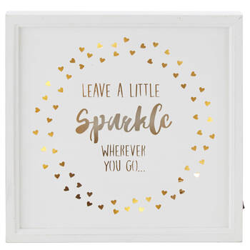 LED Wooden Sparkle Wall Plaque