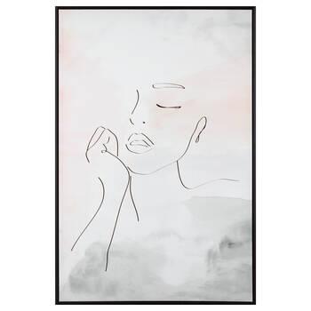 Sketched Face Framed Art