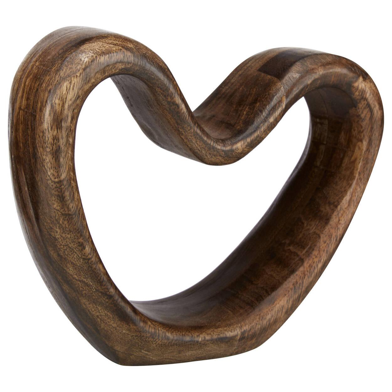 Coeur décoratif en bois de manguier
