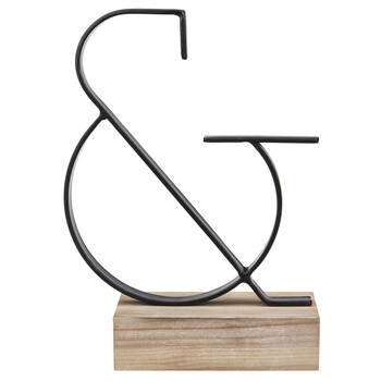 Metal and Wood Decorative Ampersand