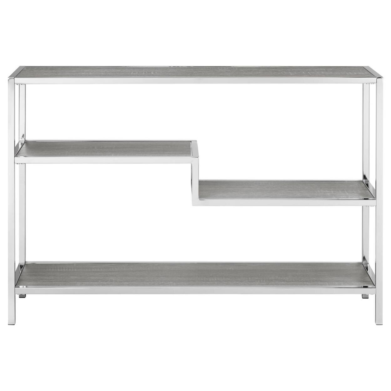 Console à quatre étagères en placage et en métal
