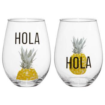 Set of 2 Hola Glasses