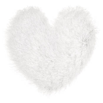 "Salome Heart-Shaped Decorative Rug 24"" X 24"""
