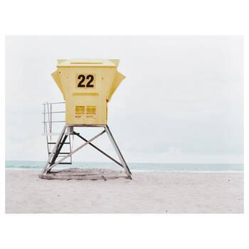 Lifeguard Hut Printed Canvas