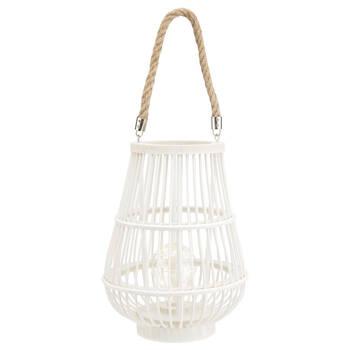Rattan Lantern LED Table Lamp