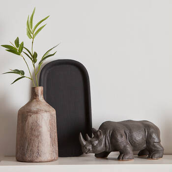 Balck Decorative Stoneware Rhino