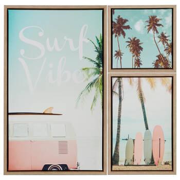 Ensemble de 3 tableaux Surf Vibe