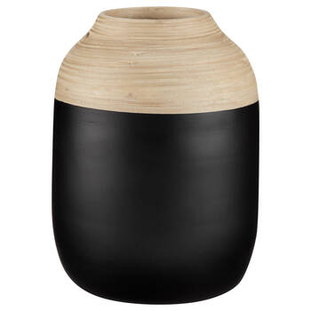 Natural and Black Bamboo Table Vase