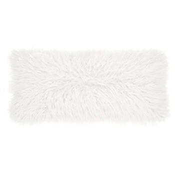 "Naadam Faux Fur Decorative Lumbar Pillow 11"" X 22"""