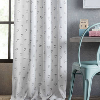 Heart Panel Curtain