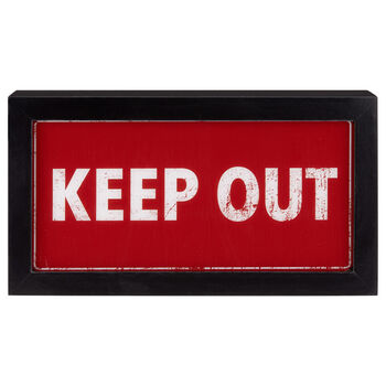 Caisson lumineux Keep Out
