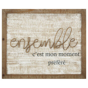 Ensemble Metal and Wood Wall Art