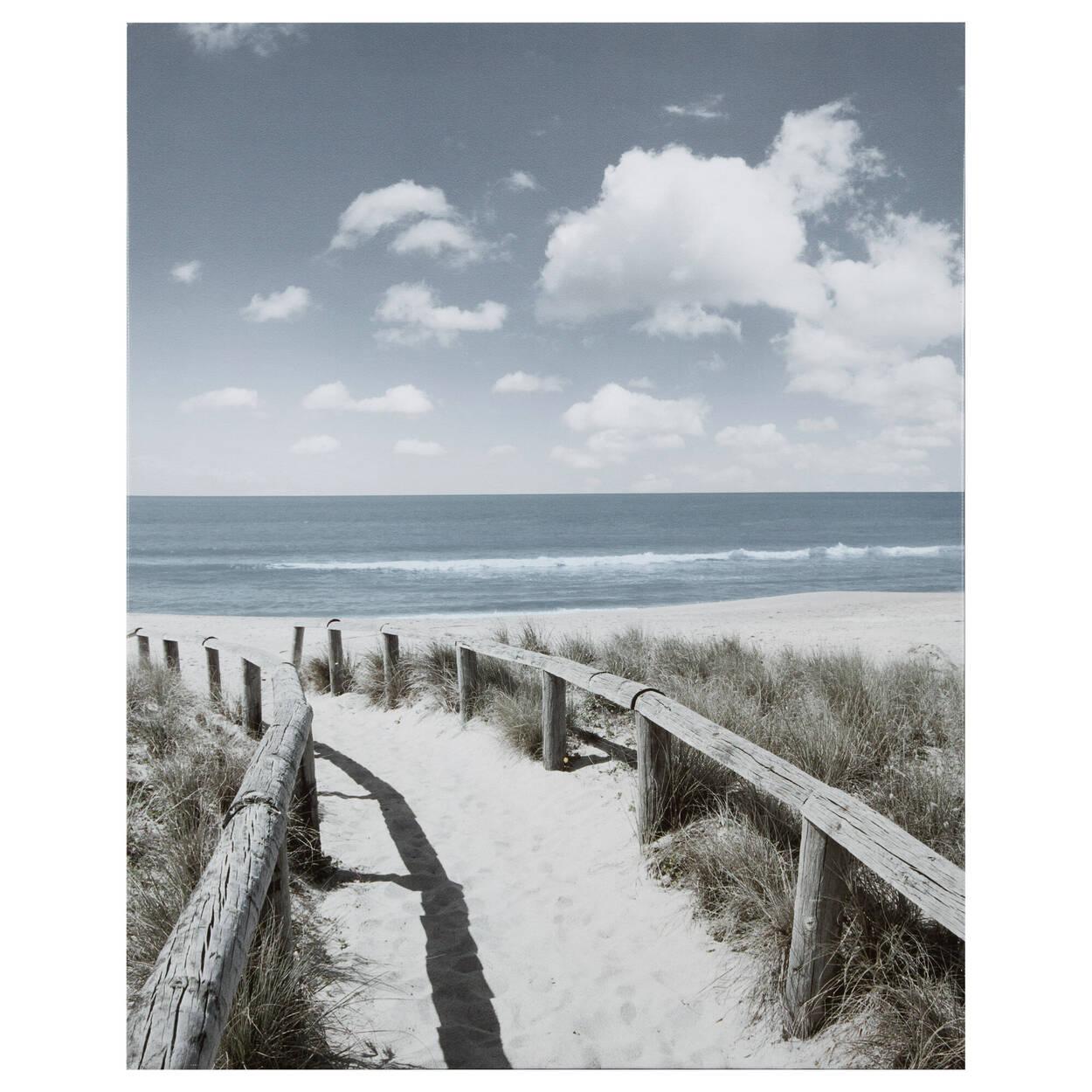 Tableau imprimé chemin vers la plage