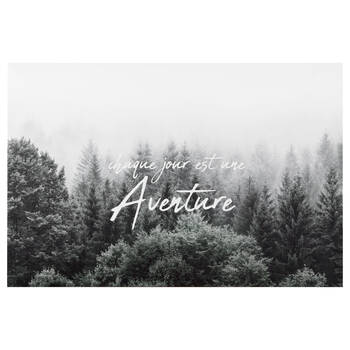 Aventure Typography Printed Canvas