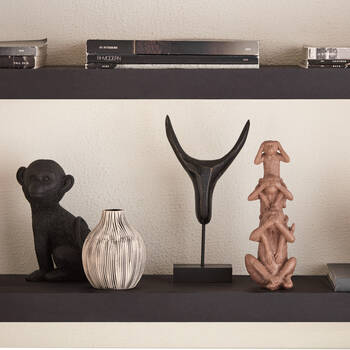 Abstract Decorative Bull Head on Stand