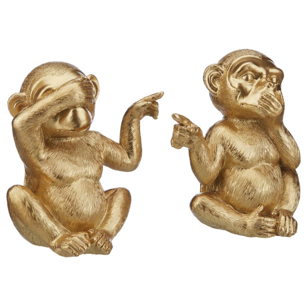 Wasn't Me Decorative Gold Monkey Set 14 cm.