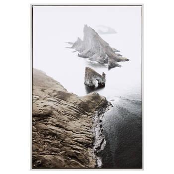 Island Rock Printed Framed Art