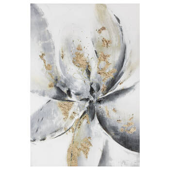 Abstract Flower Canvas with Gel Embellishment