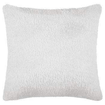 "Glitter Faux Fur Decorative Pillow 15"" X 15"""